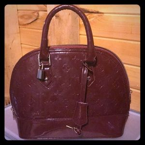 Wine red small handbag